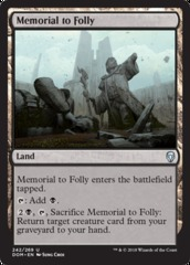 Memorial to Folly - Foil