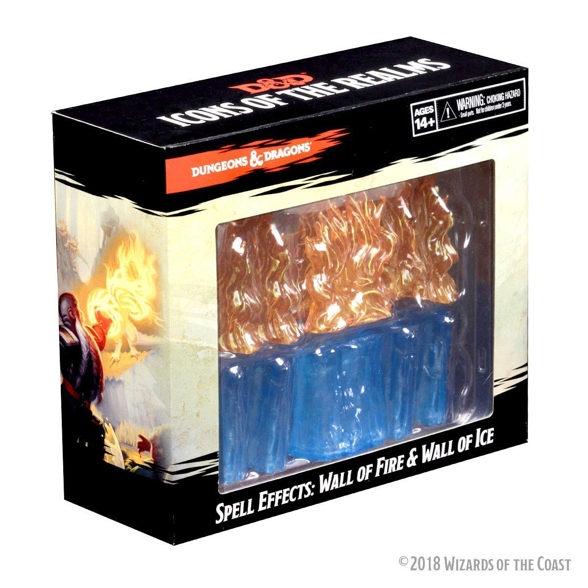 Dungeons And Dragons: Spell Effects Miniatures - Wall Of Fire And Wall Of Ice