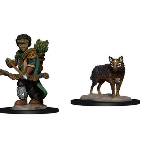 Wardlings: Boy Ranger And Wolf - Miniatures » WiZK!DS RPG Minis