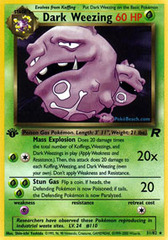 Dark Weezing - 31/82 - Rare - 1st Edition on Channel Fireball