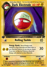 Dark Electrode - 34/82 - Uncommon - 1st Edition