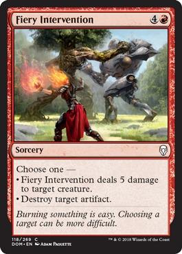 Fiery Intervention - Foil