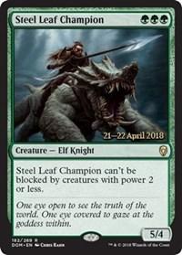 Steel Leaf Champion - Foil - Prerelease Promo