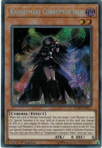 Knightmare Corruptor Iblee - FLOD-EN017 - Secret Rare - 1st Edition