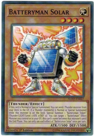 Batteryman Solar - FLOD-EN027 - Common - 1st Edition