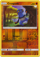 Croagunk - 63/131 - Common - Reverse Holo on Channel Fireball