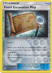 Fossil Excavation Map - 107/131 - Uncommon - Reverse Holo