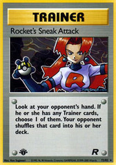 Rocket's Sneak Attack - 72/82 - Rare - 1st Edition