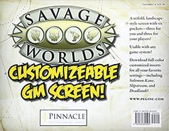 Savage Worlds: Customizable Gm Screen