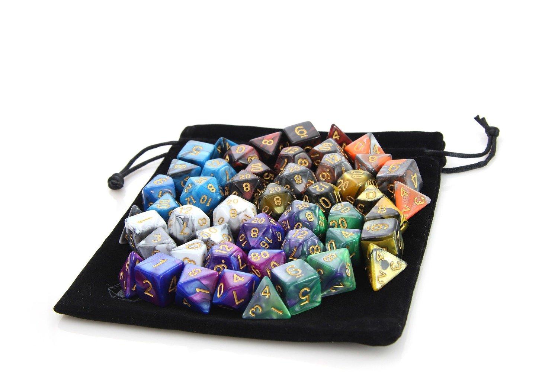 7 Set Marble Bundle + Satin-Lined Velvet Bag