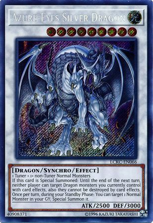 Azure-Eyes Silver Dragon - LCKC-EN066 - Secret Rare - Unlimited Edition