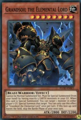Grandsoil the Elemental Lord - FLOD-ENSE1 - Super Rare - Limited Edition