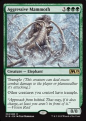 Aggressive Mammoth - Planeswalker Deck Exclusive