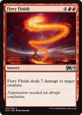 Fiery Finish - Foil