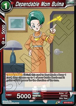 Dependable Mom Bulma (Foil) - BT4-013 - C