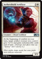 Aethershield Artificer - Foil on Channel Fireball