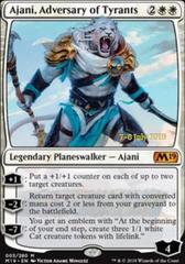 Ajani, Adversary of Tyrants (M19 Prerelease Foil) 7-8 July 2018