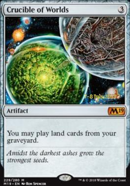 Crucible of Worlds (M19 Prerelease Foil) 7-8 July 2018
