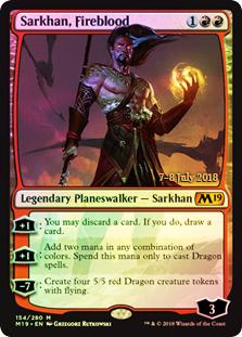 Sarkhan, Fireblood - Foil - Prerelease Promo
