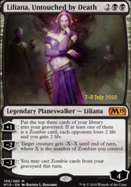 Liliana, Untouched by Death (M19 Prerelease Foil) 7-8 July 2018