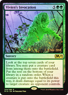 Vivien's Invocation (M19 Prerelease Foil) 7-8 July 2018