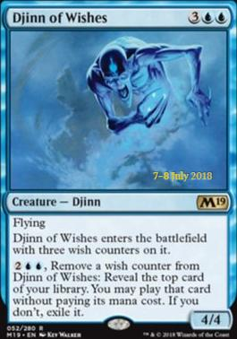Djinn of Wishes (M19 Prerelease Foil) 7-8 July 2018