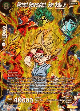 Distant Descendant, Son Goku Jr. - BT4-123 - SCR