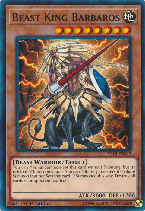 Beast King Barbaros - YS18-EN013 - Common - 1st Edition