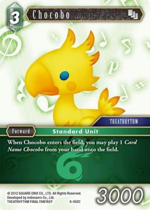 Final Fantasy TCG Opus 9 Pre-release Chocobo Sleeves Pack of 55
