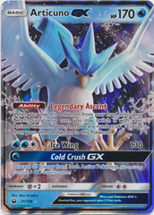 Articuno GX - 31/168 - Ultra Rare on Channel Fireball