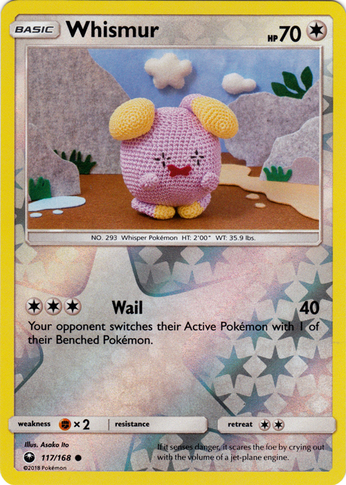Whismur - 117/168 - Common - Reverse Holo