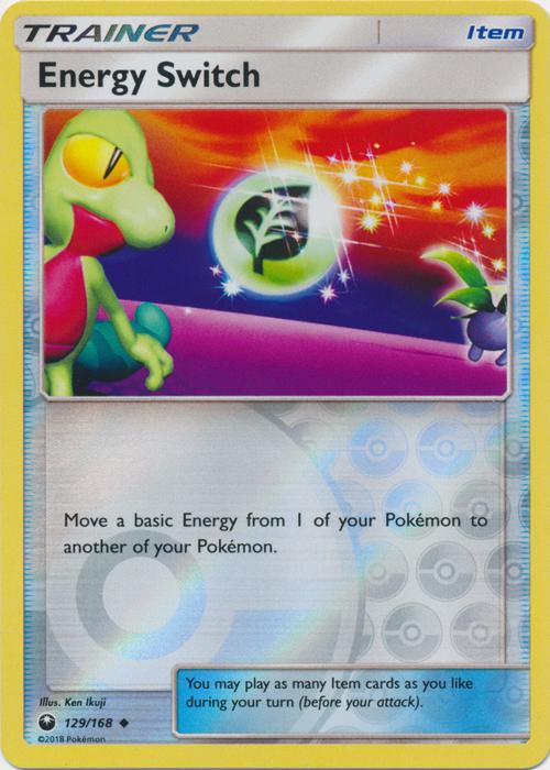 Energy Switch - 129/168 - Uncommon - Reverse Holo