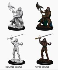 Nolzur's Marvelous Miniatures - Female Half-Orc Fighter