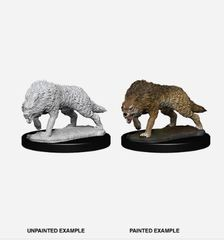 Pathfinder Battles Unpainted Minis - Timber Wolves