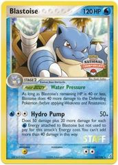 Blastoise - 14/100 - (Staff 2007 Nationals) Rare