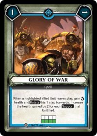 Glory of War (Unclaimed)