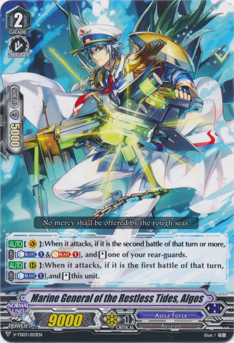 Marine General of the Restless Tides, Algos - V-TD03/003EN