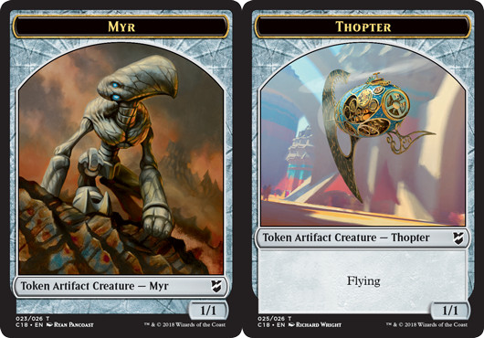 Myr Token (023) // Thopter Token (025)