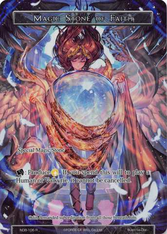 Magic Stone of Faith - NDR-106 - R - Full Art