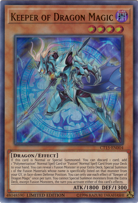 Keeper of Dragon Magic - CT15-EN004 - Ultra Rare - Limited Edition