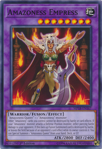 Amazoness Empress - MP18-EN167 - Common - 1st Edition