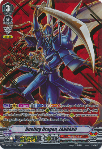 Dueling Dragon, ZANBAKU - V-BT02/002EN - SVR (Gold Hot Stamp)