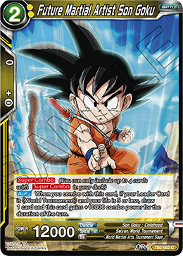 Stopping Power Son Goku TB2-034 UC FOIL Dragon Ball Super TCG NEAR MINT