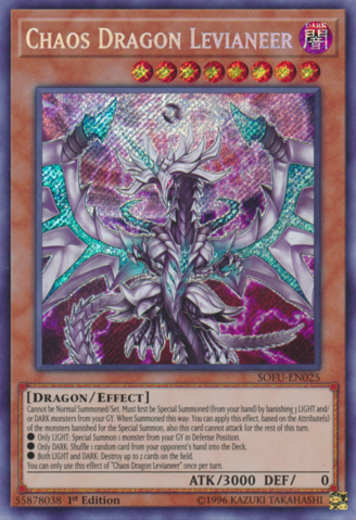Chaos Dragon Levianeer - SOFU-EN025 - Secret Rare 1st Edition