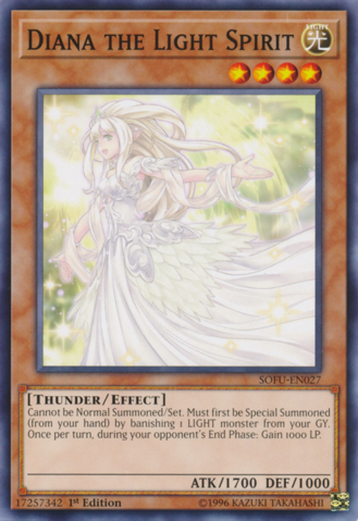 Diana the Light Spirit - SOFU-EN027 - Common - 1st Edition