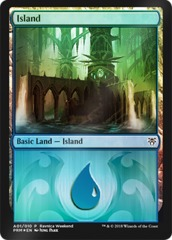 Island - Dimir (A01) - Foil Ravnica Weekend Promo