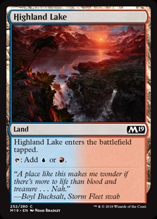 Highland Lake (Core Set 2019) - Planeswalker Deck Exclusives