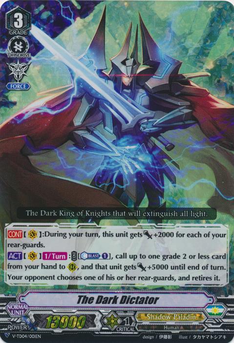 The Dark Dictator - V-TD04/001EN - RRR