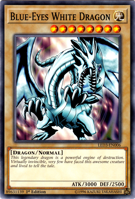 LED3-EN040 YUGIOH 3 X GALAXY KNIGHT LEGENDARY DUELISTS WHITE DRAGON ABYSS