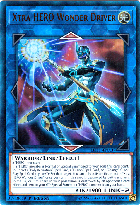 LEGENDARY HERO DECKS 1ST EDITION LEHD-ENB20 YUGIOH 3 X SOUL CHARGE